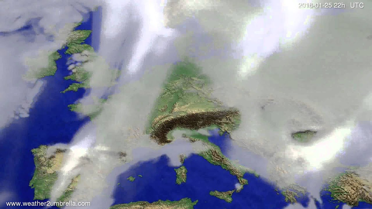 Cloud forecast Europe 2016-01-23