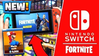 MARIO and LUIGI SKINS Coming!   Fortnite Nintendo Switch Edition! ( Gameplay Release )