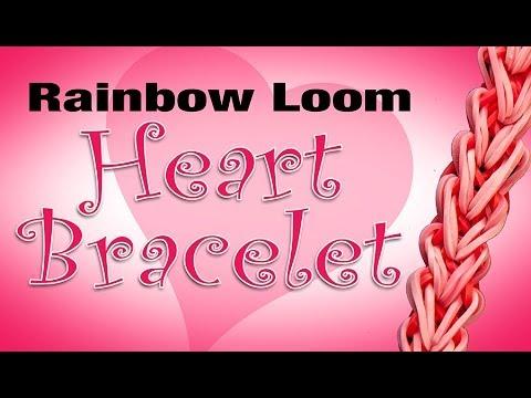 Rainbow Loom Heart Bracelet – How to tutorial HD