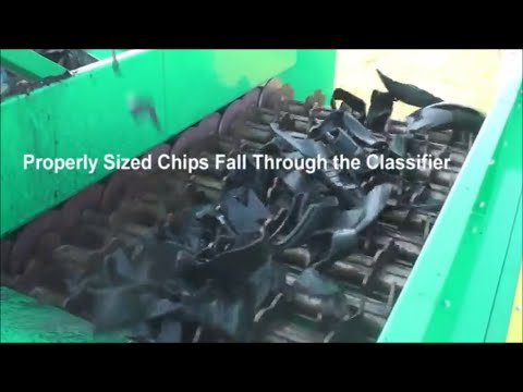 Watch the CM Primary Tire Shredder in action!