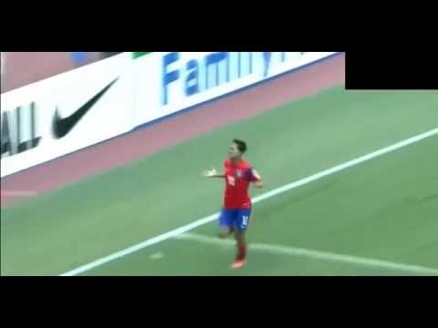 Seung - Seung-Woo Lee scores against Malaysia, Thailand, Japan at the 2014 AFC U-16 Championship.