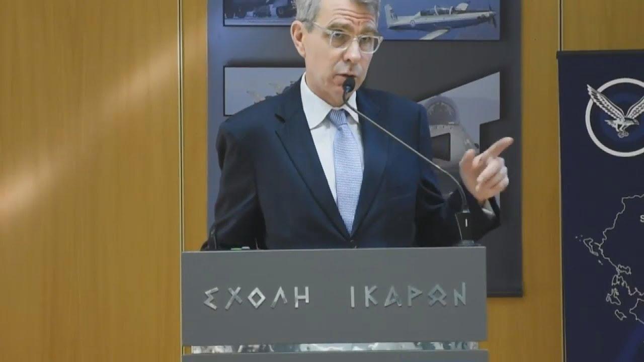 Απόσπασμα ομιλίας του πρέσβη  των ΗΠΑ στην Ελλάδα, Τζέφρεϋ Πύατ