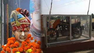 Om Banna is a shrine located in Pali district near Jodhpur, devoted to a deity in the form of a motorcycle. The motorcycle is a 350cc Royal Enfield Bullet.