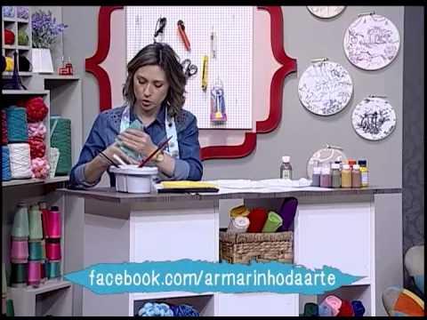 Como pintar em gesso - placa Vintage