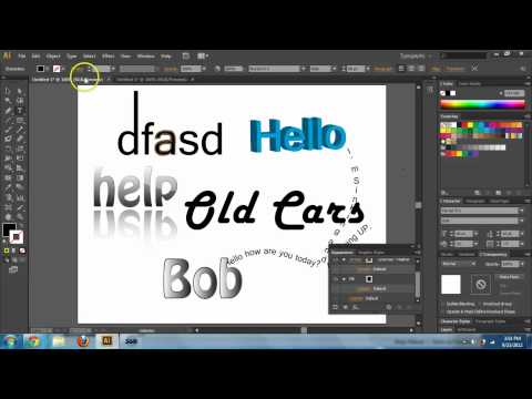 Adobe Illustrator CS6 & CC - Text Basics - Text Tool Tutorial