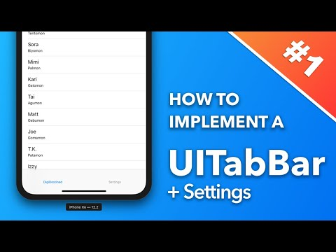 How To Implement A TabBar!