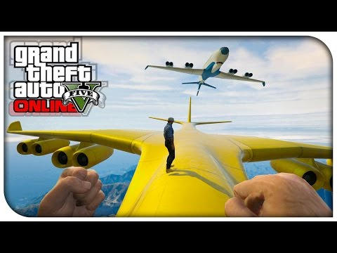GTA 5 Online – FIRST PERSON CARGO PLANE STUNTS! (Funny Moments Gameplay) [GTA V]