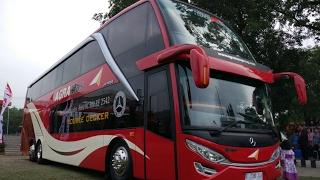 Video [HD] Launching Bus Tingkat Agra Mas Double Decker Interior dan Eksterior MP3, 3GP, MP4, WEBM, AVI, FLV Desember 2017