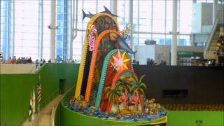 Miami Marlins Home Run Sculpture in Action