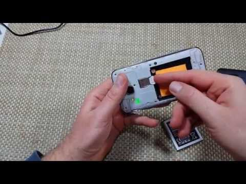 Samsung Galaxy Core Prime How to remove replace install cover, battery & insert sim card & SD Card