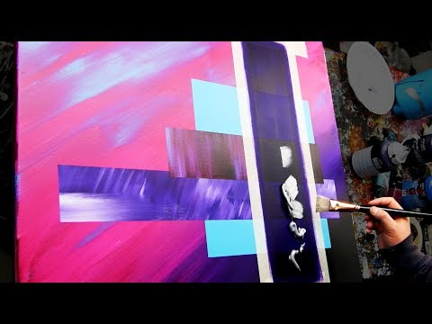 Very Easy Abstract Painting with masking tape | Continuum | John Beckley