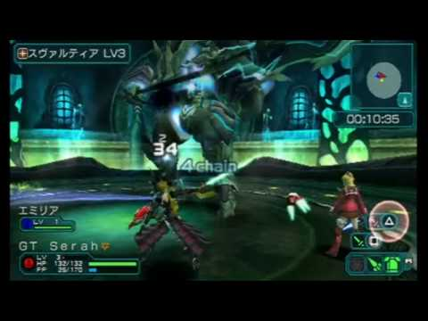 Phantasy Star Portable 2 Gameplay  +  Boss