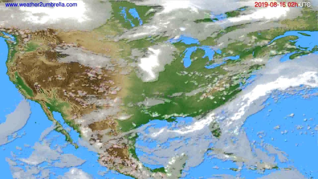 Cloud forecast USA & Canada // modelrun: 00h UTC 2019-08-14