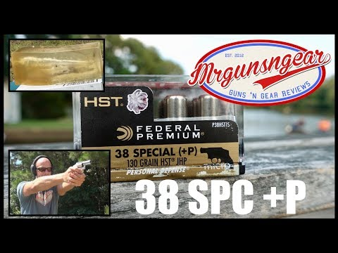 Federal HST Micro 130gr 38 Special +P Ballistic Gel Test (HD)