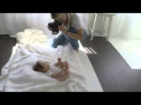 Behind the Scenes Baby Photo Shoot  – 4 month old baby