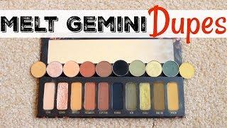 Melt Cosmetics Gemini DUPES | Colourpop, Sydney Grace, Makeup Geek, MBA Cosmetics | Katie Marie