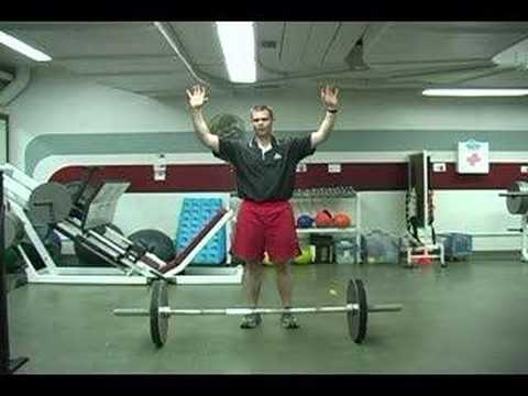 barbell - One in a series of instructional strength training videos produced for an online strength training class at the University of Wisconsin at La Crosse by Travi...