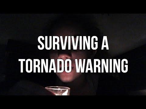 we had a tornado warning .. (humor)