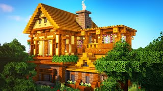 Minecraft: Big Medieval House / Mansion tutorial  [ How to Make a Medieval House ] 2020
