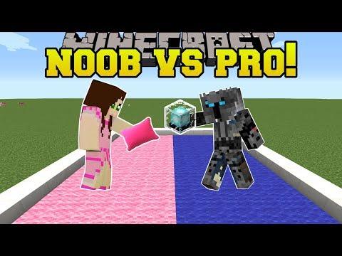 Minecraft: NOOB VS PRO!!! - PILLOW FIGHT! - Mini-Game (видео)