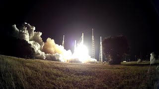 Mobius ActionCam video of Falcon 9 CRS-5 framed by launch complex foliage