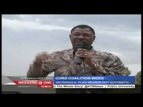 Moses Wetangula maintains his call for democracy within CORD 24th July 2016