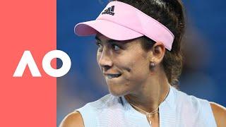 Timea Bacsinszky and Garbiñe Muguruza enter Melbourne Arena (3R) | Australian Open 2019