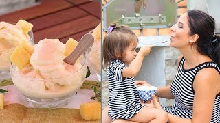 Homemade Dole Whip Recipe (Frozen Pineapple Treat) by Laura in the Kitchen