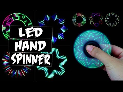 LED PATTERNS HAND SPINNER FIDGET TOY