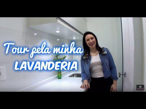 TOUR PELA LAVANDERIA COM BANCADAS BRANCA - TV Casa Clean