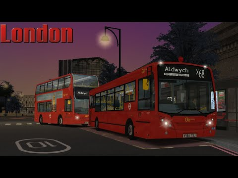 OMSI 2   London - Route X68   West Norwood - Aldwych   Enviro 200 ZF