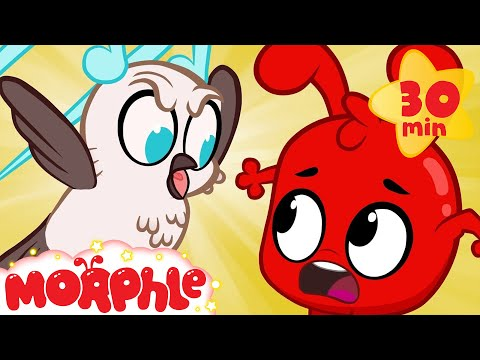 Wow Morphle! A magic soundbird copies peoples voices! (Cartoons for kids)