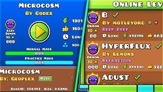 """Hoy os traigo el último Easy Demon que me quedaba por completar!! """"Microcosm"""" por Codex, un nivel de la 2.0 creo, en Geometry Dash 2.1! Espero que os guste :)► SUSCRÍBETE (Es gratis) https://www.youtube.com/user/GuitarHeroStyles?sub_confirmation=1❱❱ ID: 26770534❱❱ Game Rate: 1/5 (Easy Demon)❱❱ Demon Rate: 4/10 (Easy Demon)► Merchandising• http://mundotubers.com/24-guitarherostyles► Sígueme!• Twitter ❱ https://twitter.com/AdvyStyles• Canal Secundario ❱ http://bit.ly/2l0mm73• Twitch ❱ http://www.twitch.tv/guitarherostyles• Facebook ❱ https://www.facebook.com/GuitarHeroStyles• Instagram ❱ https://instagram.com/advystyles• Contacto ❱ advystylesgh@hotmail.com ► Canción del nivel:  • http://www.newgrounds.com/audio/listen/706193---Contenido creado y subido por GuitarHeroStyles. El robo de esta, tanto vídeos como miniaturas, será retirada con una sanción.Content created and uploaded by GuitarHeroStyles. The theft of this, both videos as thumbnails, will be removed with a strike."""