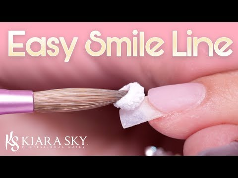Perfect Acrylic French Tip 💅🏼 Nail How To: Easy Smile Line 🙂  Nail Tutorial ✨