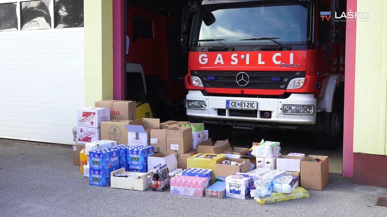 Gasilci z dobrodelno akcijo zbiranja hrane pomagali družinam v stiski