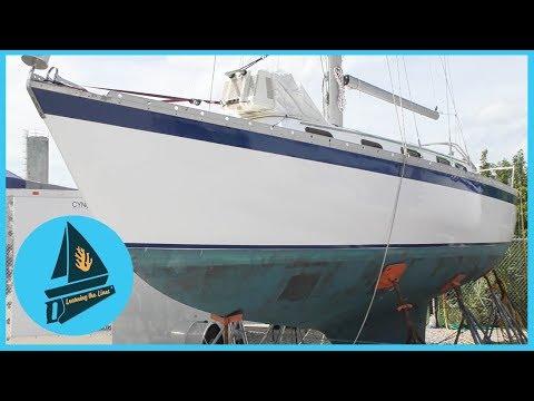 59. She Looks Shiny & New! - Topsides Painted & Dodger Started | Learning the Lines - DIY Sailing_A héten feltöltött legjobb vitorlázás videók