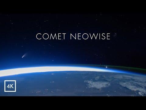 Комета NEOWISE с борта МКС