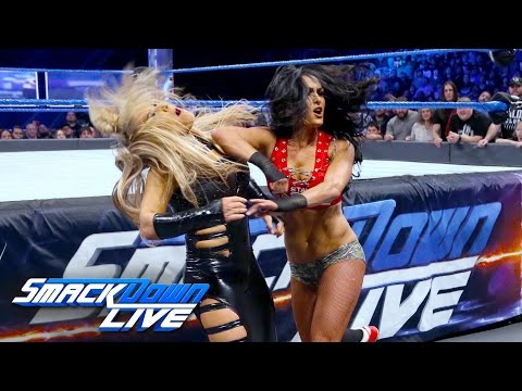 Nikki Bella vs. Natalya - Falls Count Anywhere Match: SmackDown LIVE, Feb. 21, 2017 (видео)