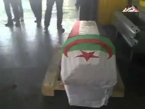 Warda's coffin at Cairo Airport