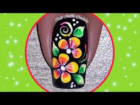 Uñas decoradas - Decoración de uñas neón/cómo decorar las uñas con colores fluorescentes