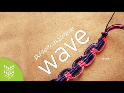 Nudo Wave . Pulsera de Hilo - Macramé