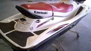 3. LOT 2428B 2004 KAWASAKI STX-15F Jet Ski Tear Down into parts - Salvage