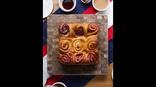 Red White and Blue Berry Rolls by Tasty