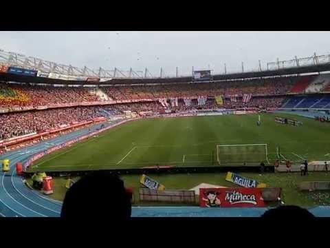 Increible entrada Junior vs Santa Fe. Tifos y demás!! - Frente Rojiblanco Sur - Junior de Barranquilla