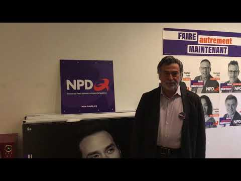 Jean-Michel Blais - Nouveau Parti Démocratique du Québec - Acadie (видео)