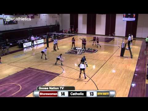 Washington College Volleyball - Final Point v. Catholic