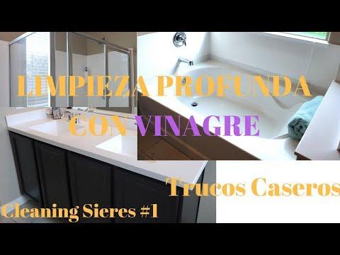 Videos caseros - LIMPIA CONMIGO TU BAÑO / LIMPIEZA PROFUNDA CON VINAGRE / TRUCOS CASEROS
