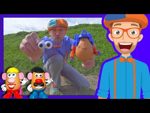 Potato Heads with Blippi on the Farm  Videos for Toddlers
