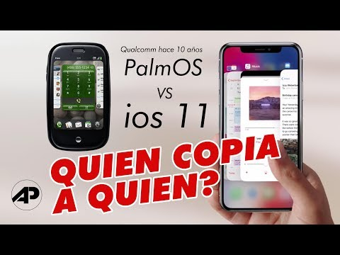 'iPhone X swipe gestures de qualcomm palm OS 2010
