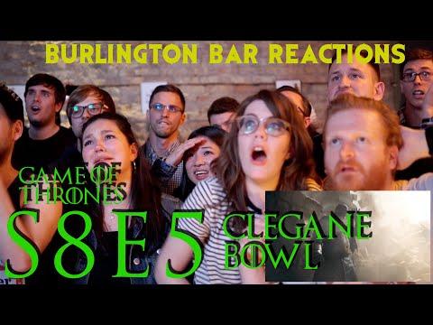 Game Of Thrones // Burlington Bar Reactions // S8E5 // CLEGANE BOWL REACTION!!